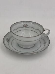 Vintage Tea Cup and Saucer Noritake Belfort Bridesmaid Set Pink Roses