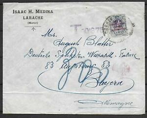 Spanish Morocco covers DUE cover Larache to Augsburg