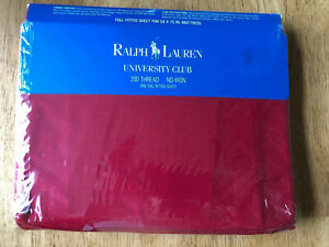 RALPH LAUREN POLO HOME COLLECTION WARM RED FULL FITTED SHEEL200 THREAD COUNT