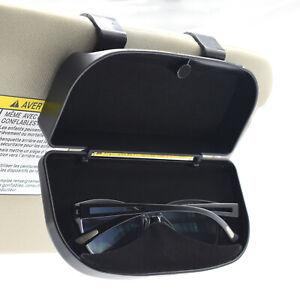 Auto Car Sunglasses Holder Case Box Glasses Clip Visor Card Ticket Organizer