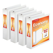 Cardinal 2 Inch 3 Ring Binder Round Ring White 4 Pack Holds 475 Sheets 79520