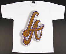 Los Angeles Paisley T-shirt LA Graffiti Art Lakers Kobe Tee Adult 3XL White New