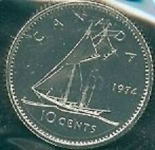 1974-PL Proof-Like Dime 10 Ten Cent '74 Canada/Canadian BU Coin Un-Circulated