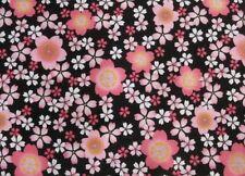 Furoshiki Tapestry Table Cloth  SAKURA  Black  Made in Japan   Cotton 100%