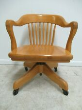 Pleasant Oak Office Chair Antique Chairs 1950 Now For Sale Ebay Evergreenethics Interior Chair Design Evergreenethicsorg