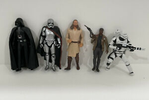 Lot of 5 Star Wars Hasbro Figures Darth Vader
