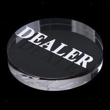 Acrylic Round Professional Poker Dealer Buttons for Casino Card Games 56mm