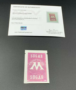 Harry Potter Prop Ministry Of Magic Sugar Packet W/ COA