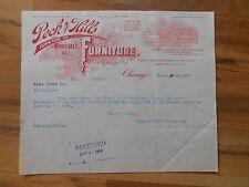 Antique 1903 Peck & Hills Wholesale Furnitue Co. Chicago Illinois Paper Letter