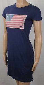 Polo Ralph Lauren Navy Blue Lightweight Distressed Flag Dress NWT