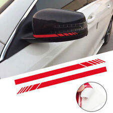 1Pair Car Accessories Rearview Mirror Carbon Fiber 5D Sticker Vinyl Stripe Decal