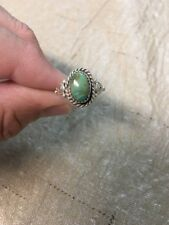 Native American Womens Navajo Turquoise Ring Size 8.5 Stunning #2  Look!!!!