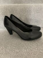 New M&S Black Leather Footglove Wider Fit Court Shoes Size UK 6.5