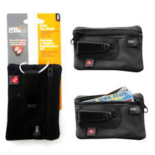 RFID Clip On Stash Pouch Wallet Travel Safe Security Id Holder Lewis N Clark BK