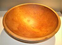 "Antique Wood Mixing Dough Bowl Primitive Maple w/ 3 Ball Feet 16"" x 15 1/2"" x 6"""