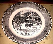 Vintage Royal China Jeannette Transferware Deep Dish Bowl Plate