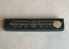 Vintage Waterman's Ideal Fountain Pen Box Only