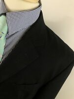 Jos A Bank Men's Three Button Wool Pinstripe Suit Size 46 R Pants 42 X 28 P8