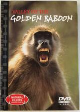 9 GOLDEN BABOON DVD VIDEO & 24 Page Book Natural Killers Predators Close-up