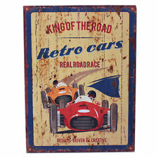Wall Hanging Decoration Home Wooden Vintage Retro Car Design King of the Road