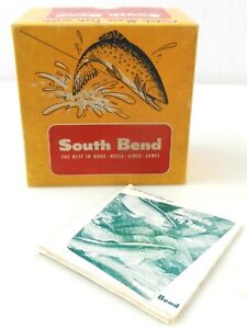 """Vintage South Bend #1130 Oreno-Matic Fly Fishing Reel """"BOX & PAPER ONLY"""" ~ T134"""