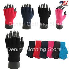 6, 12 Men Women Winter Warm Knitted Fingerless Half Finger Magic Gloves Mittens