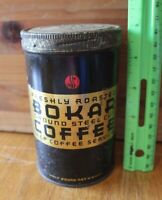 Vintage Bokar Coffee tin cylinder Half pound Great Atlantic & Pacific tea Co