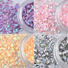 12 Colors 3d Rhombus Nail Glitter Sequins Powder Flakes DIY Nail Art Paillette