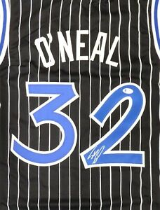 ORLANDO MAGIC SHAQUILLE O'NEAL AUTOGRAPHED SIGNED BLACK JERSEY BECKETT 191131
