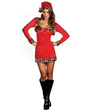 Dreamgirl WILD ABOUT CHRISTMAS Costume - Sexy Leopard Print Santa Dress- Adult M