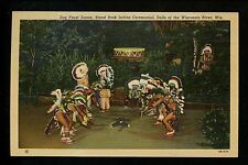 Native Americana postcard Sioux Indian Dog Feast Dance, Wisconsin River Dells