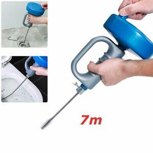 7m Rohrreinigungsspirale Handbetrieb Rohrreinigungsgerät Rohrreinigungsmaschine