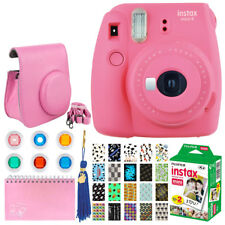 Fujifilm Instax Mini 9 Instant Camera (Flamingo Pink) + Case + Album - Top Kit!