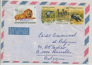 LM85743 Burundi air mail to Brussels good cover used