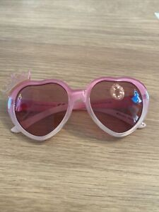 Girls Disney Princess Pink Heart Sunglasses With Crown