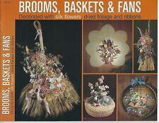 Escobas,Canastas & Fans Arreglos Florales Coronas de Flores Vintage Manualidades