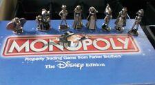 Disney Monopoly Set Of 8 Pewter Movers Pieces Dumbo Snow White Peter Pan Mogli
