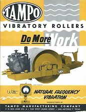 Equipment Brochure - TAMPO - VC80 - Vibratory Compactor Roller c1960's (E3582)