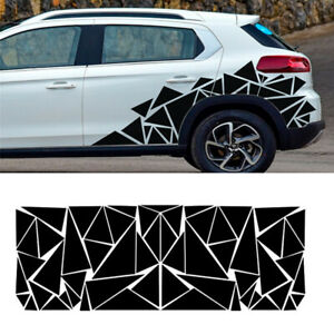 2x Glossy Black Car Truck Stickers Decals Body Decoration Trim Triangles Style