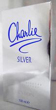 CHARLIE SILVER REVLON  SPRAY 3.4 OZ / 100 ML NEW IN BOX FOR WOMEN LARGE BOTTLE