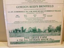 VINTAGE BRIMFIELD MA ANTIQUE SHOW Ad Poster & Pine Grove Farm Duanesburg NY 1983