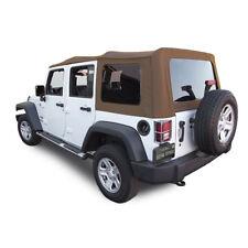 Jeep Wrangler 4 DR JK Soft Top, 2007-09, Tinted Windows, Saddle Sailcloth