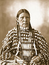 Large Giclee Reprint Vintage Native American Photo ARAPAHO INDIAN WOMAN Clothing