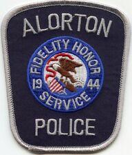 ALORTON ILLINOIS IL Silver Border POLICE PATCH