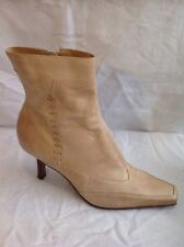 Barratts Beige Ankle Leather Boots Size 5