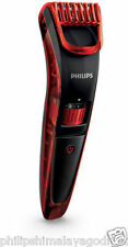 Philips QT4006 Beard and Stubble Trimmer (Black And Red)