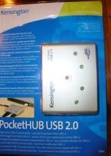 Kensington 4 Port Pocket Hub USB 2.0 Self or Main Power Laptop PC - Euro & UK
