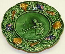 Antique 19th C George Jones Majolica Art Pottery Plate Seashells Cockle Picker