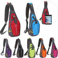 Men's Women's Large Nylon Sling Shoulder Chest Bag Backpack Gym Bicycle Pouch