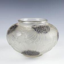 Rene Lalique Glass Dahlias Vase Designed 1923 Marcilhac 938